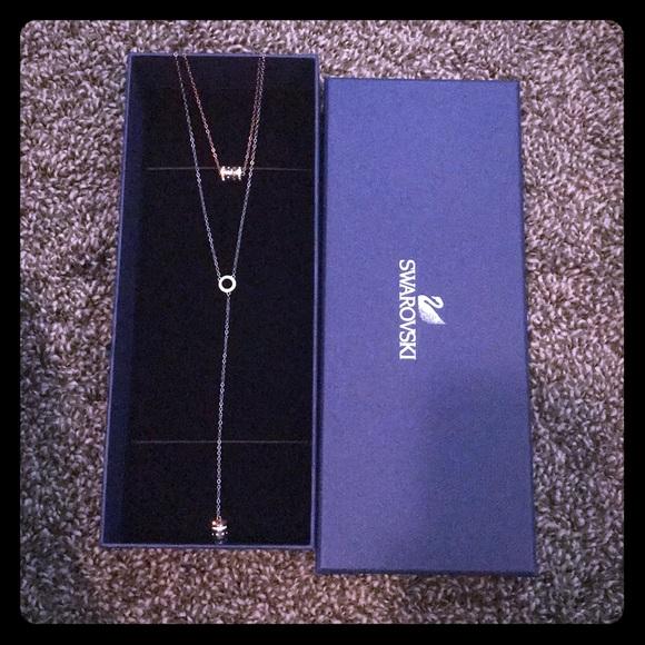 905053397 Swarovski Jewelry   Hint Necklace In Box With Tag   Poshmark